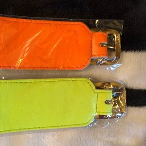 Jessica Elliot Jewelry - 90s Genuine Leather Neon Trending Cuffs
